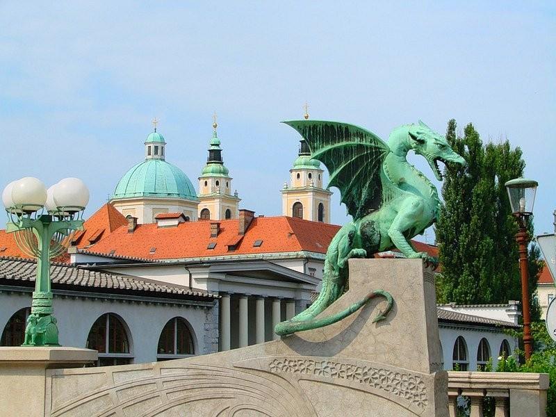 Любляны Драконов мост